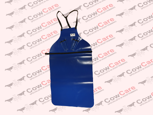Apron-CowCare,-full-length-made-of-PVC,-with-knife-holders