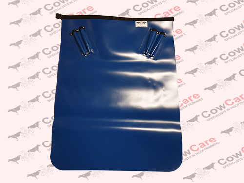 Apron-CowCare,-half-length-made-of-PVC,-with-knife-holders