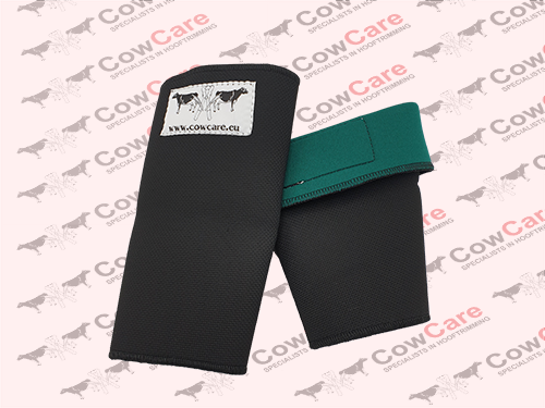 Hoof-trimming-equipment-Wrist-and-arm-protector,-green