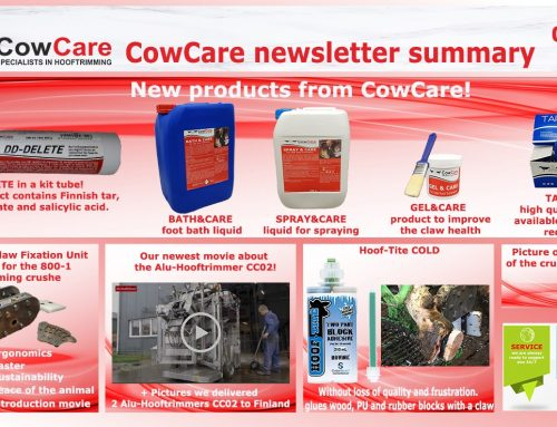 CowCare newsletter for hoof trimmers