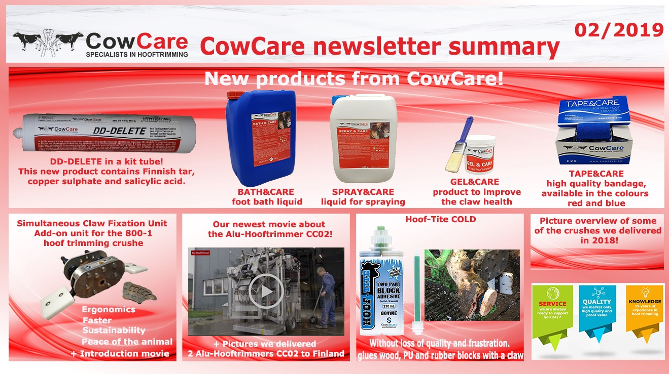 CowCare newsletter for hoof trimmers2019