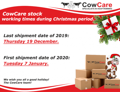 Ordering procedure and working schedule CowCare during Christmas holidays.