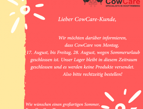 CowCare goes on summer holidays!