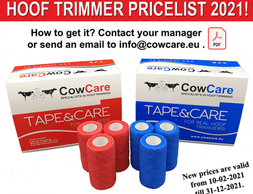 NEW COWCARE HOOF TRIMMER PRICELIST IS AVAILABLE!